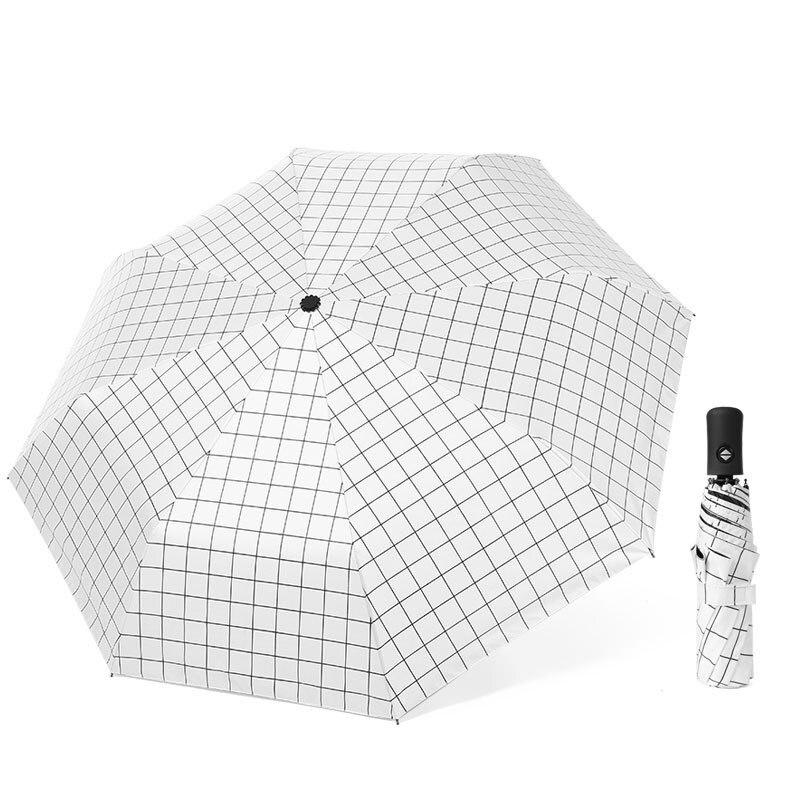 Mini Paraguas plegable de calidad a rayas, resistente al agua automático Paraguas plegable, Paraguas para Hombre, equipo para la lluvia EA60YS