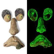 Newest Bark Ghost Luminous Face Tree Monster Facial Features Luminous Decoration Household Props Gar