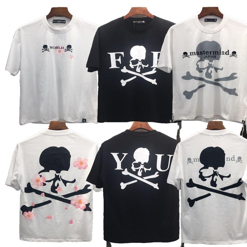20ss Summer Style Mastermind t Shirt Men Women 1:1 High Quality Japan Double cross Skull  Plum Print Top Tee Justin Bieber