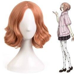 Persona 5 cosplay amamiya ren haru okumura goro akechi cosplay onda peruca curta reta síntese peruca de cabelo feminino