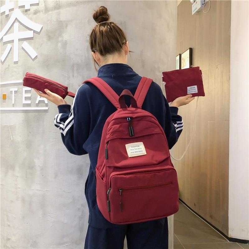 3 set School Bags for Teenage Girls Kids Children Student Backpack Travel Teen Shoulder Bag Child Schoolbag New Women backpack