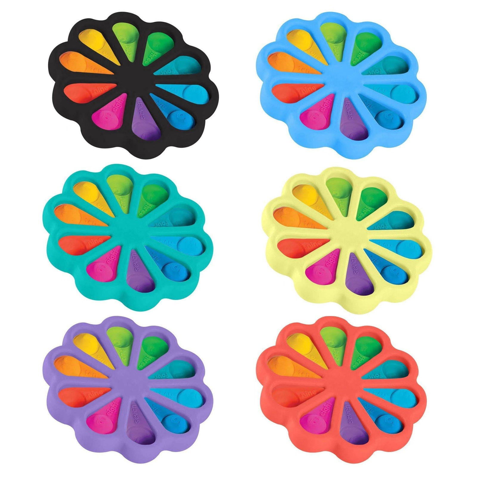 Fidget Dimple Toy Stress Relief Hand Toys For Kids Easy To Use Soft Silicone Toys For Adults 18 Antistress For Children Popite enlarge