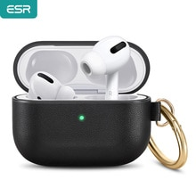 ESR Earphone Case for Apple Earphone Leather Soft Touch with Hook Up Shockproof Cover For EarPods Pr