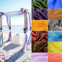 5mx1 35m sheer scarf organza table runner for wedding arch valance table swags event party reception backdrop decoration