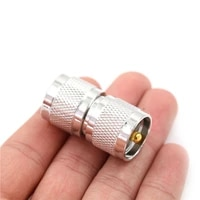 1x uhf pl259 male to uhf pl 259 male plug rf coaxial adapter connector double straight long rf coax adapter connector
