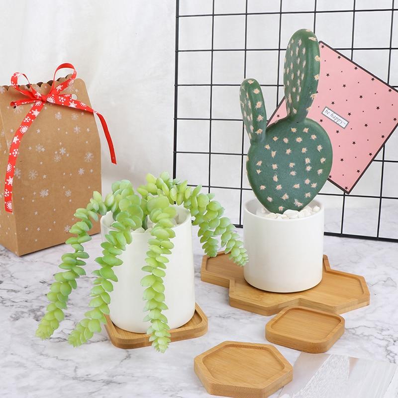 Домашние керамические микро садовые свадебные мини цветочные горшки квадратные сочные растения ваза цветочные поддоны для горшков контей...