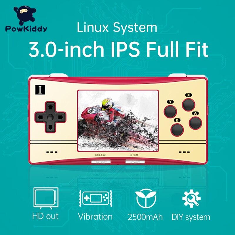 Powkiddy anberonic RG300X ريترو لعبة وحدة التحكم لعبة فيديو صغيرة لاعب ل PS1 ألعاب 128G 15000 ألعاب هدايا للأطفال دعم HD