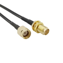 Câble dextension dantenne WiFi, 1 pièce, RP SMA mâle à RP SMA femelle RG174, prise Jack RP-SMA, connecteur Coaxial Pigtail RG-174
