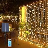 christmas garland solar lights 33m christmas decorations for home garden new year 2022 garland curtain lights navidad christmas
