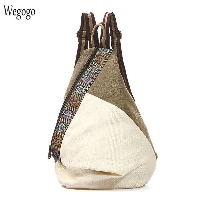 Новинка 2020, винтажный холщовый рюкзак, женская вышитая Лоскутная сумка для путешествий со шнурком, сумки через плечо, рюкзак