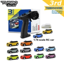 Turbo Racing 1:76 RC Car with 2 x Mini RC Cars and Remote Controller Electric Race RTR Kit Control E