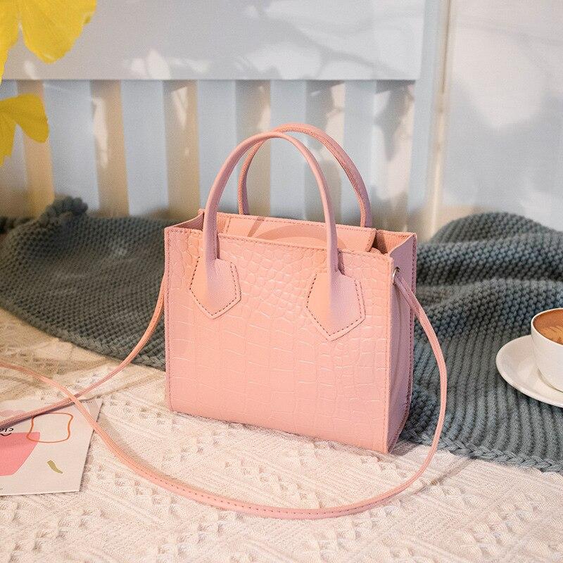 New Trendy Crocodile Pattern Ladies Messenger Bag Fashion Ladies Mini Portable Small Square Bag One Shoulder Portable Coin Purse