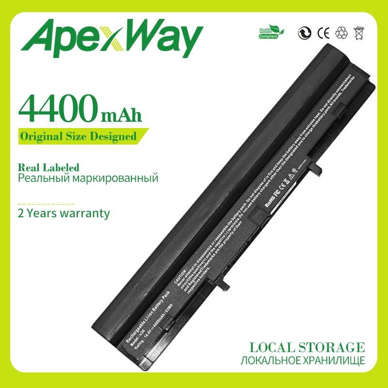 Apexway A42-U36 Laptop Batterij Voor Asus A41-U36 U32 U32U U36 U36J U36JC U36S U36SD U36SG U44 U44S U82 U84