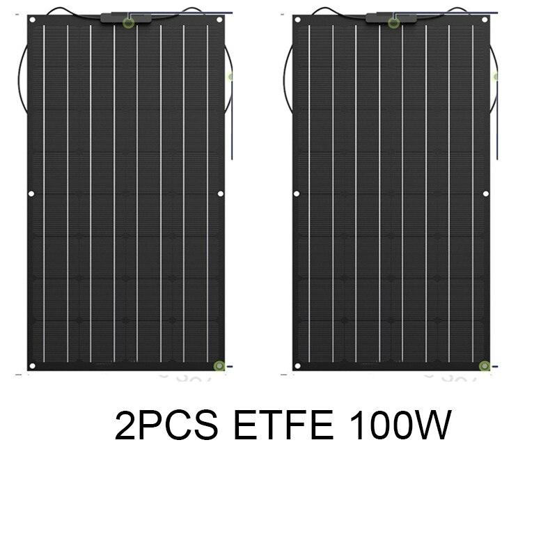 2 uds 100 W vatios 12V panel solar célula barco RV módulo solar para coche/RV/barco cargador de batería