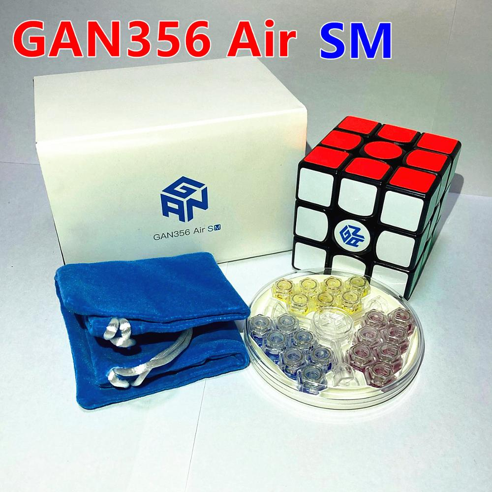 gan 365 air sm 3x3x3 speed cube black color gan air sm magnetic 3x3x3 puzzle speed cube educational learning toys for children GAN 356Air SM Cube 3x3x3 Magnetic Magic 3x3 Cubo gan356AirS M Speed GAN356 air  SM magic puzzle cubes