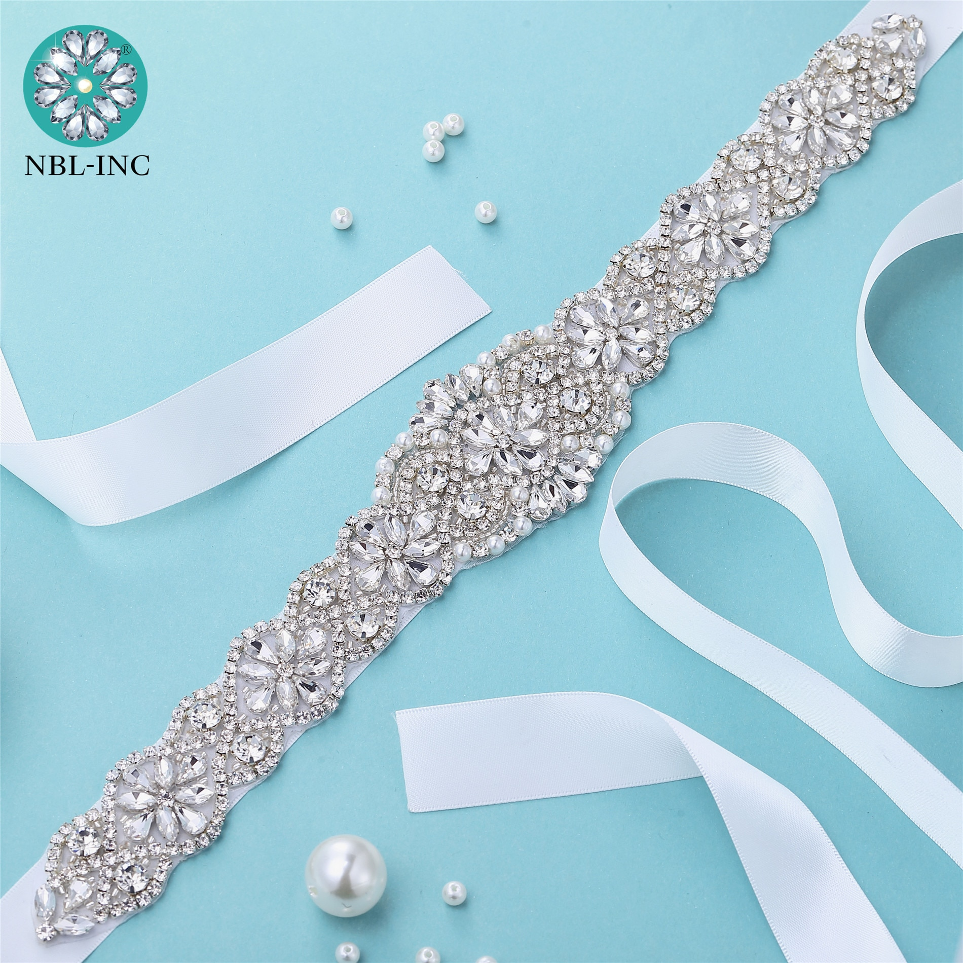 (1PC) Rhinestone Bridal belt wedding with crystal diamond wedding dress belt sash accessory for wedding dress WDD1043