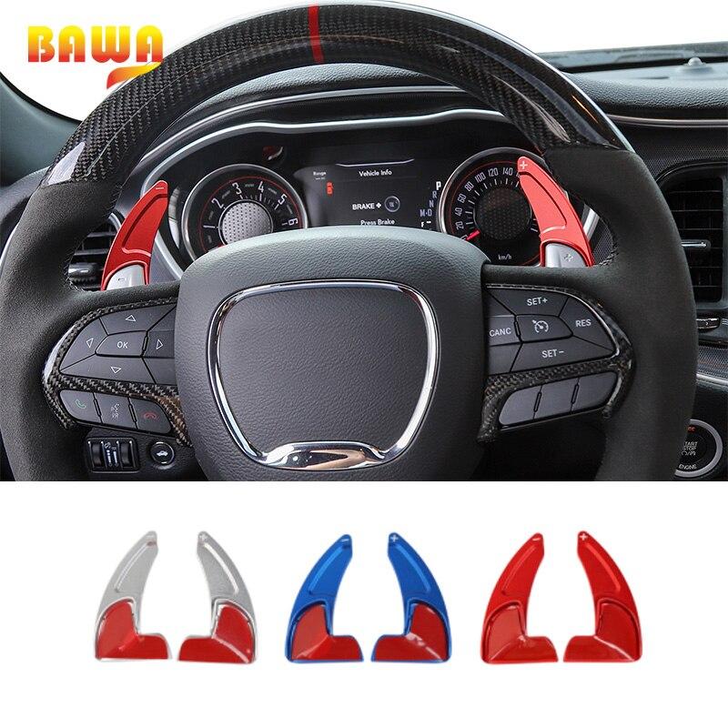 Accesorios para rueda de dirección Interior de coche BAWA, accesorios para Dodge Charger y Challenger 2015 +