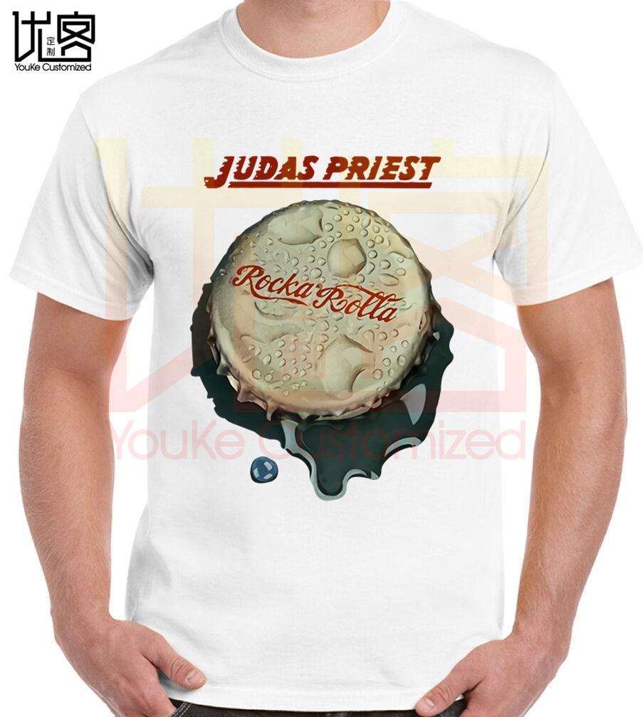 Camiseta unisex de judas priest con estampado de alta calidad de la banda de heavy metal del Reino Unido