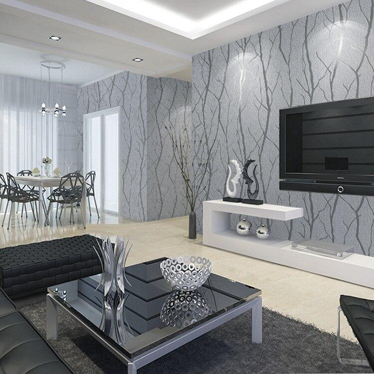 Papel tapiz gris de terciopelo triturado en relieve 3d, papel tapiz de lujo para dormitorio, pared de salón decoración de pared, papel marrón aterciopelado