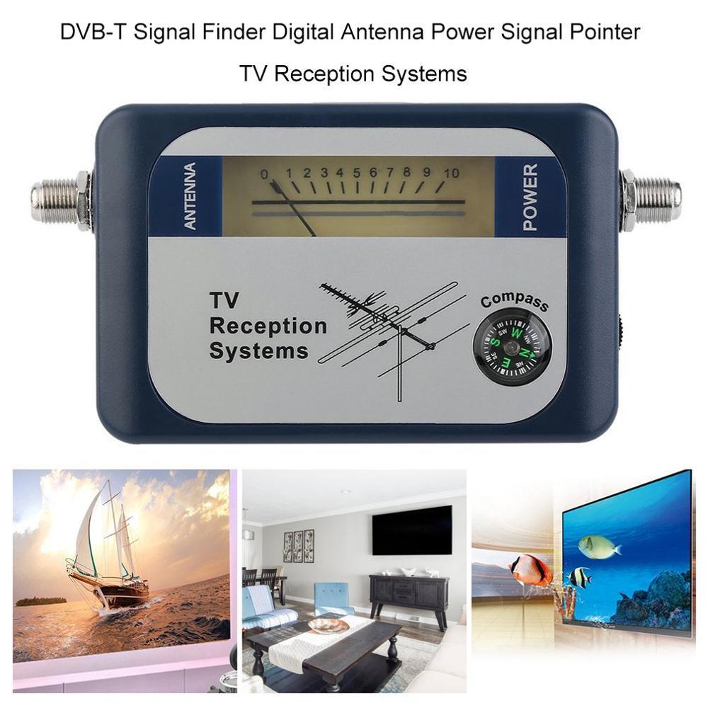 Satellit Finder цифровая антенна наземная ТВ антенна сигнал мощность измеритель силы указатель ТВ Прием с компасом
