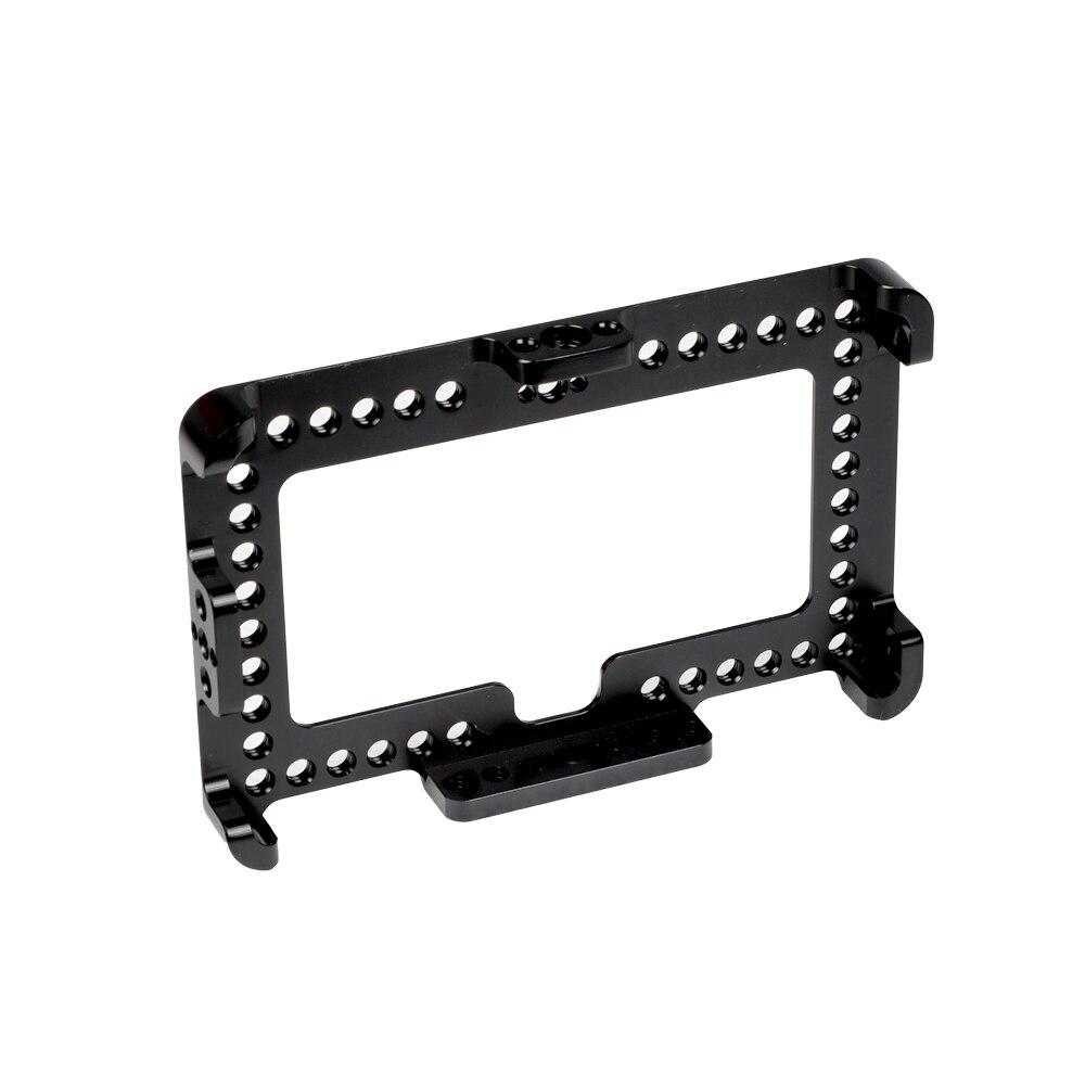 """Soporte de jaula para Monitor en cámara HDRIIG 1/4 """"-20 tornillo para pantalla FeelWorld F6 Plus 5,5"""""""