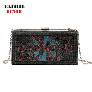 New Crystal Money USD Bags Dollar Design Luxury Diamond Evening Bag for Women Party Clutch Wedding Dinner Purses and Handbags