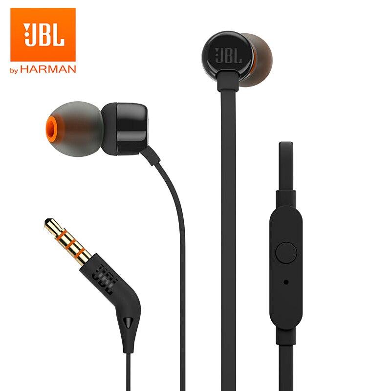 JBL-auriculares TUNE 110 con cable, dispositivo de audio estéreo T110, con graves...
