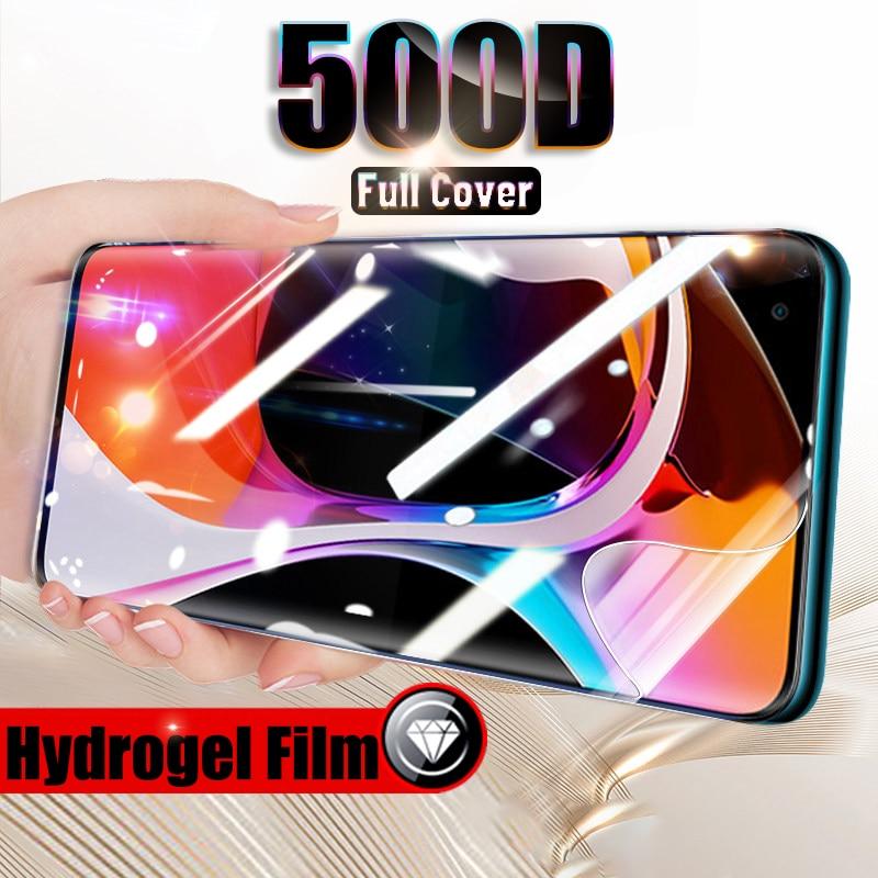 500D película de hidrogel de cubierta completa para Xiaomi Mi Note 10 Pro 9 Lite Se Protector de pantalla para Xiaomi Mi 10 Lite 9t Pro A3 película curvada