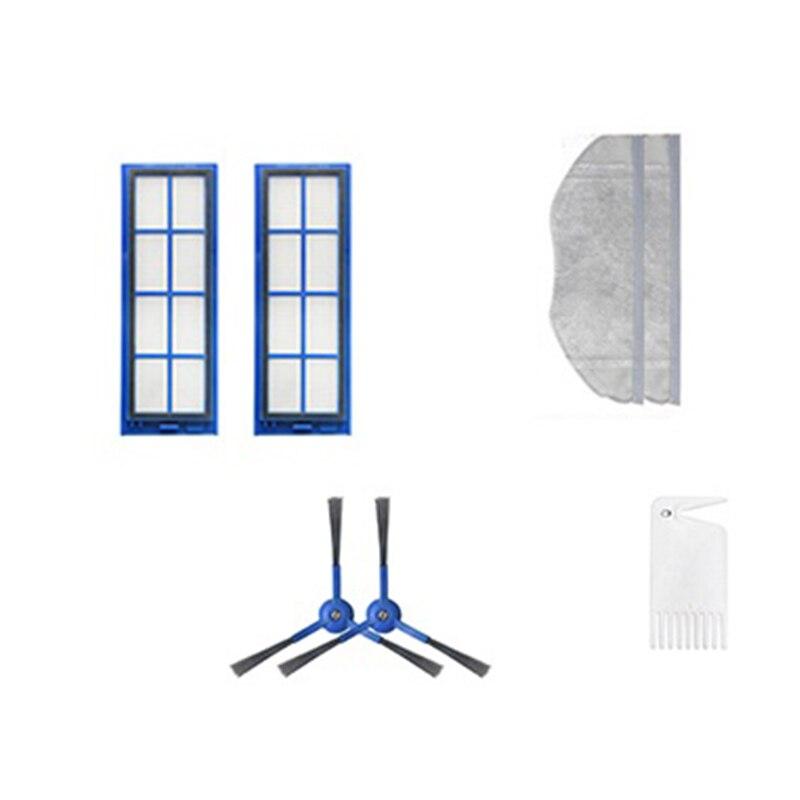 7 pçs apropriado para eufy robovac l70 acessórios aspirador de pó escova lateral filtro ferramenta limpeza