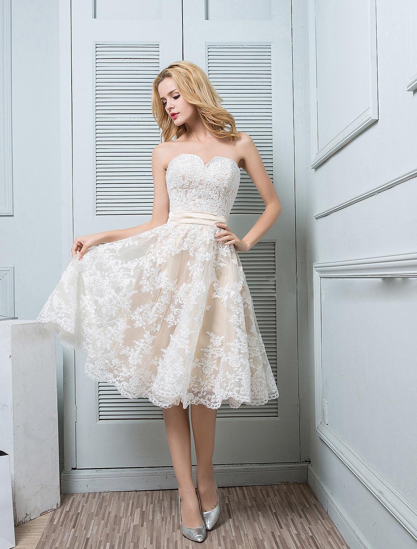 Get 2021 luxury high quality European and American fashion sexy bra short dress dress temperament simple backless slim wedding dress