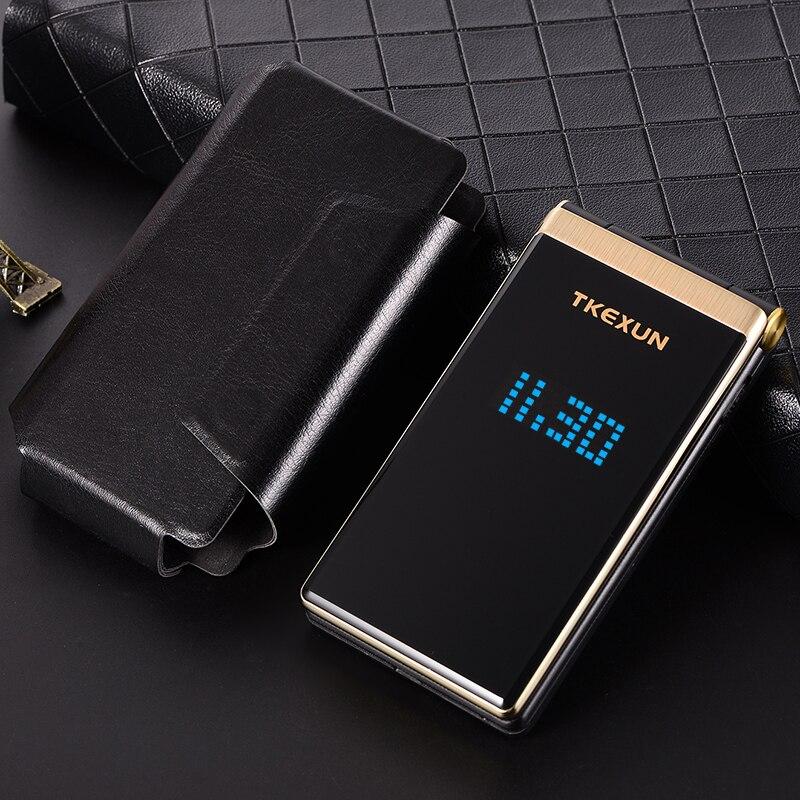 "Flip Dual Screen 2.8"" Original Flip Russian Keyboard Cheap Senior Touch Mobile Phone Elder Clamshell Cell Phones"