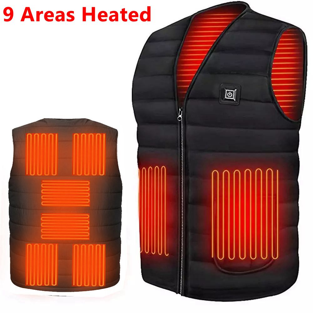 Men Autumn winter Smart heating Cotton Vest USB Infrared Electric Heating Vest Women Outdoor Flexible Thermal Winter Warm Jacket
