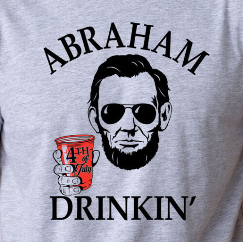 Abraham Drinkin Funny Beer Pong Red Solo Cup Drinking College Lincoln T-Shirt 2019 Fashion Unisex Tee