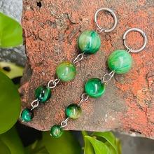 Fashion Natural Stone Earrings for Women Long Beaded Earrings Yellow Tigereye Amethyst Opal Earrings