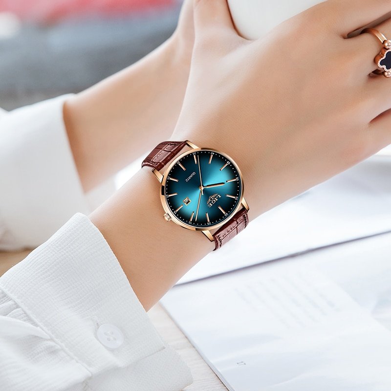 Ladies Wrist Watches Waterproof Women Watches Casual Leather Strap Luxury Quartz Watch Clock Gifts Montre Femme Relogio Feminino enlarge