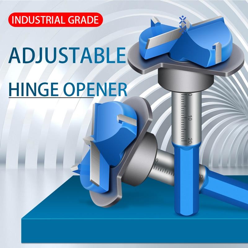 Forstner Bit,Hinge Jig Drill Guide Set,Set Door Boring Hole Bit Tungsten Carbide Woodworking  19/32