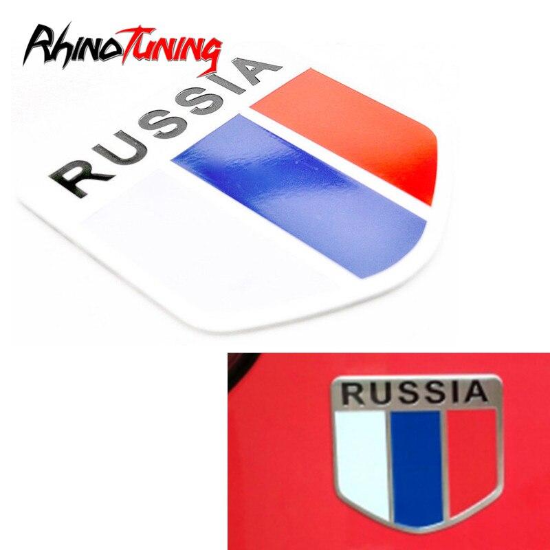 RUSSLAND Flagge Metall Aufkleber Emblem Aluminium Schild Auto Körper Aufkleber Aufkleber