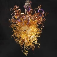 elegant amber gold chandelier light led 110v to 240v murano crystal chandelier lamps