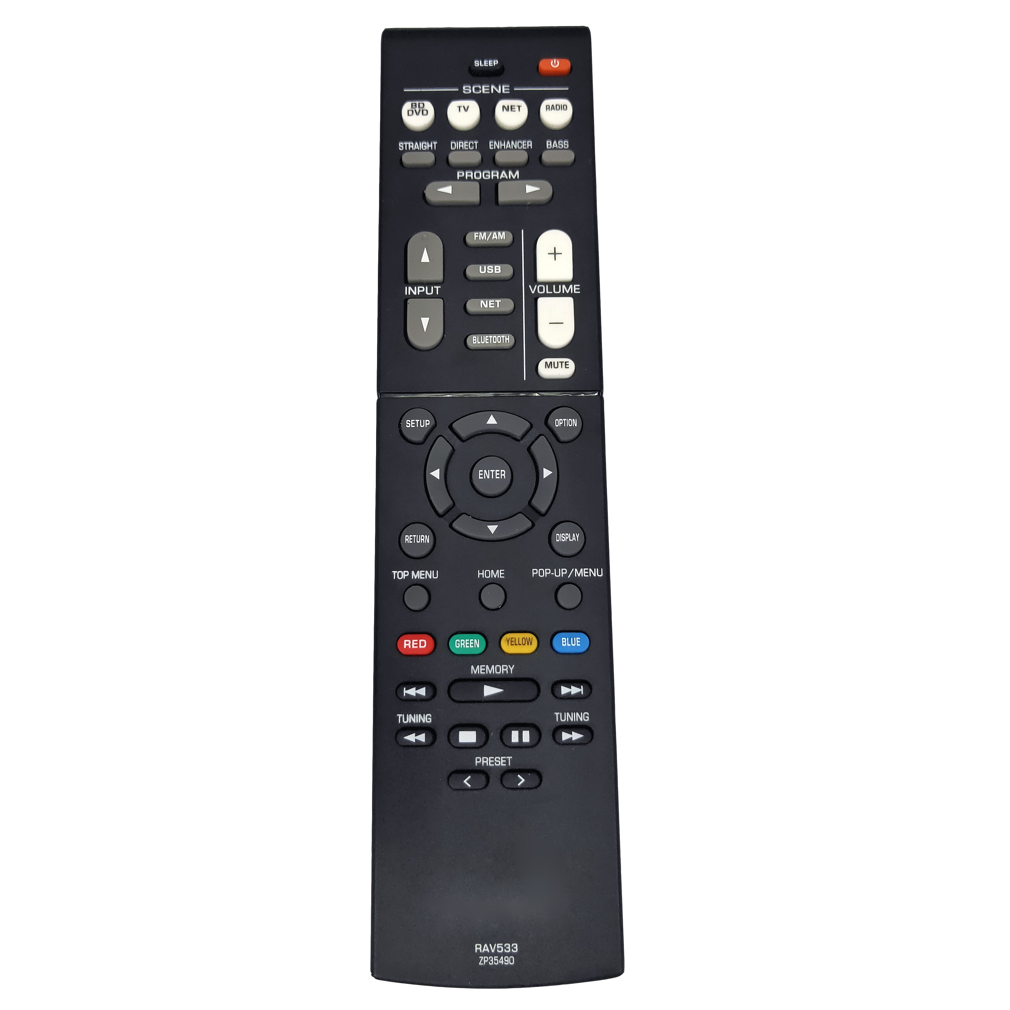 NEW RAV533 ZP35490 Remote for YAMAHA RAV533 EX RX-V4 RAV531 RX-V479 rx-v479bl RX-V579 rx-v579bl AV Receiver Fernbedienung