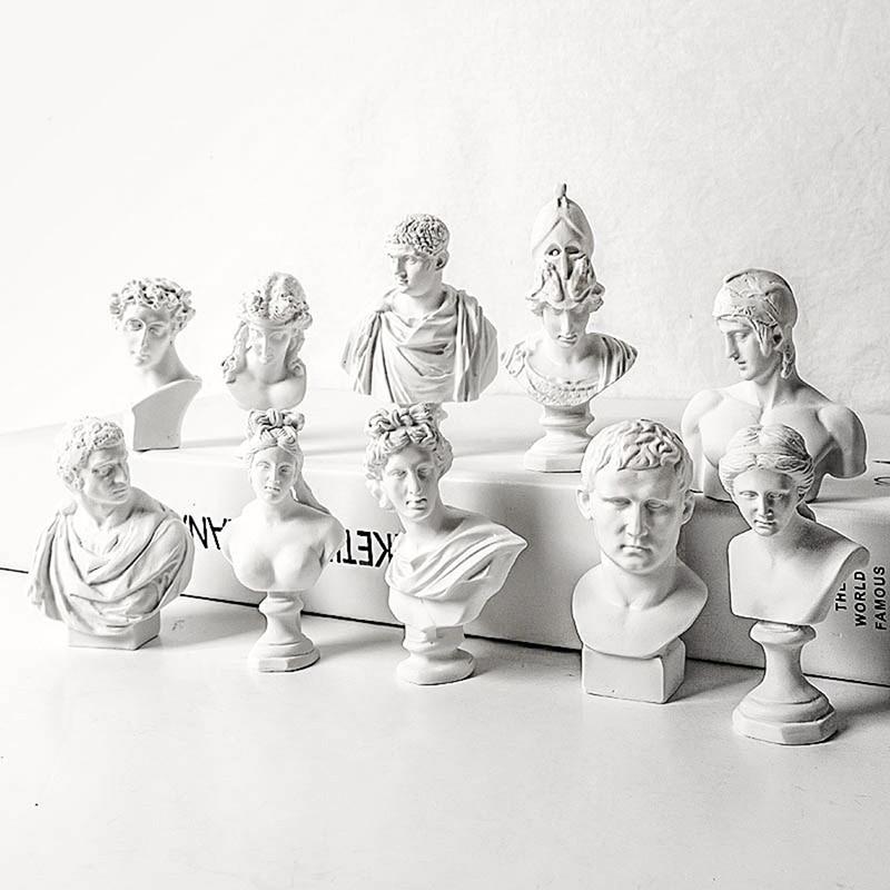 Фото - Famous Sculpture Plaster Bust Statue Greek Mythology Figurine Gypsum Portraits Nordic Style Drawing Practice Crafts Home Decor mark d fullerton greek sculpture