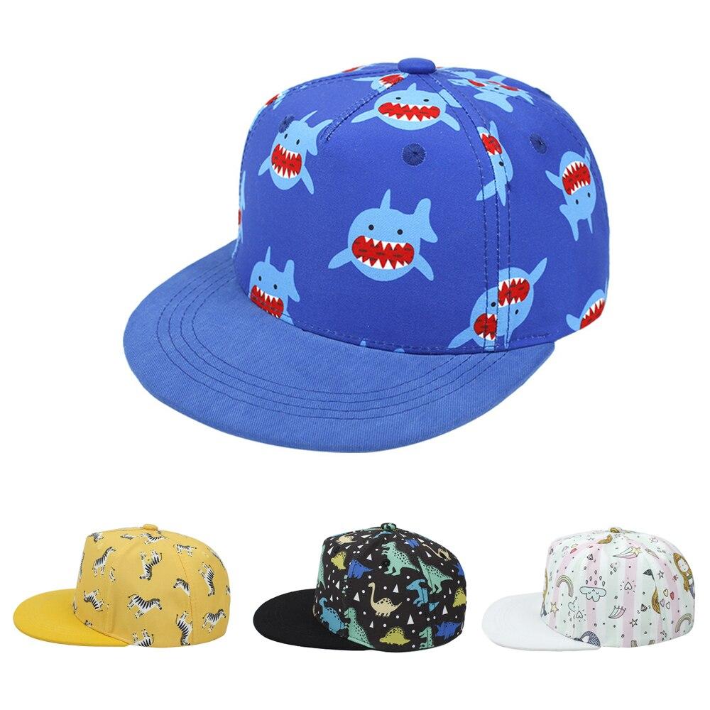 Новая летняя детская Солнцезащитная шляпа с мультяшным принтом, Пляжная детская бейсбольная шляпа, бейсболка в стиле хип-хоп, Снэпбэк Кепка...