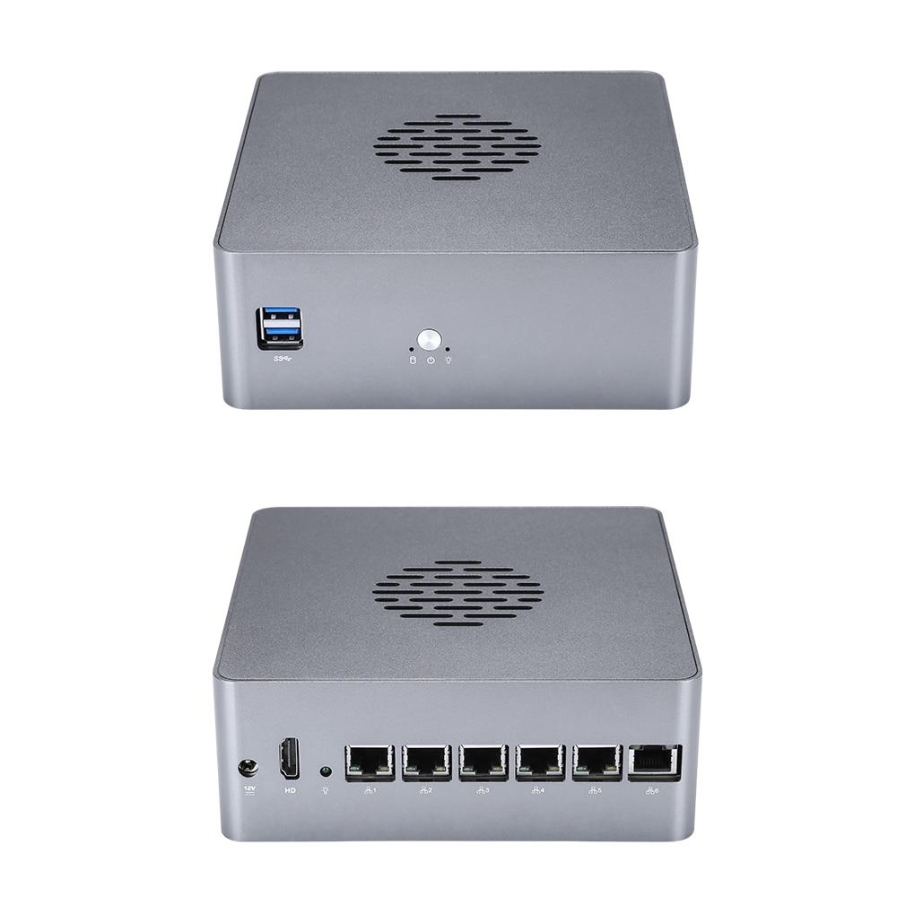 Qotom 6 LAN Mini PC Pentium i3 i5 AES-NI VPN Router Cent Sophos, Vyos, Untangle Computer Linux Ubunt