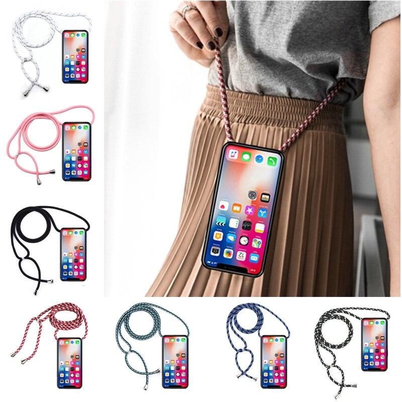 Correa cordón cadena teléfono funda para Huawei P Smart Plus 2019 collar cordón Coque para Huawei P Smart PLUS 2018