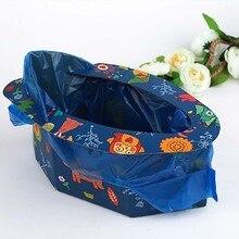 Faltbare Kind Kinder Tragbare Falten Töpfchen Sitz Jungen Mädchen Baby Reise Wc Ausbildung Infant Notfall Potties mit Freies Taschen