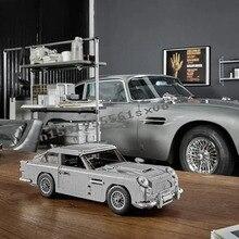 Neue 1295Pcs Technic Creator Experte James Bond Bausteine Bricks Classic 007 10262 Autos Modell Kinder Spielzeug Geschenk