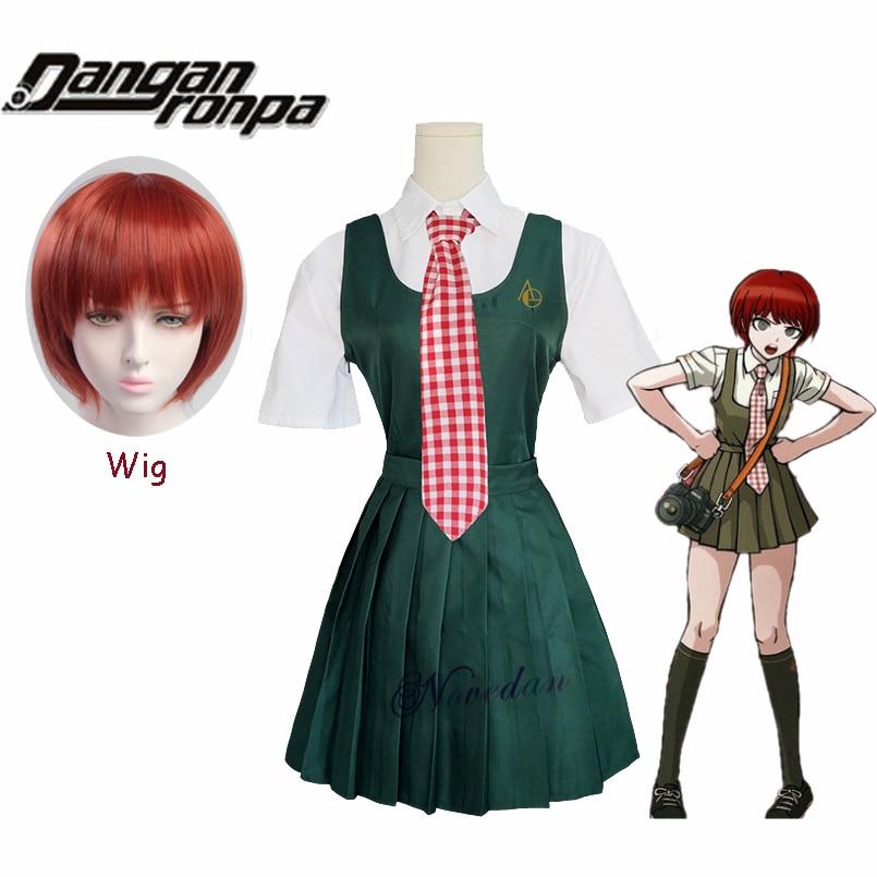 Super Dangan Ronpa 2 Danganronpa Mahiru Koizumi Cosplay School Uniform And Wig For Girls Women Anime Cosplay Costume