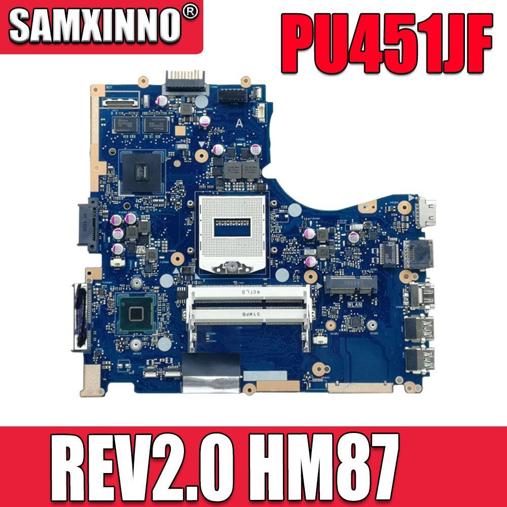 Pu451jf placa-mãe do portátil para For Asus pu451 pu451j rev2.0 hm87 soquete 940 ddr3 para nvidia geforce 930 m placa gráfica mainboard