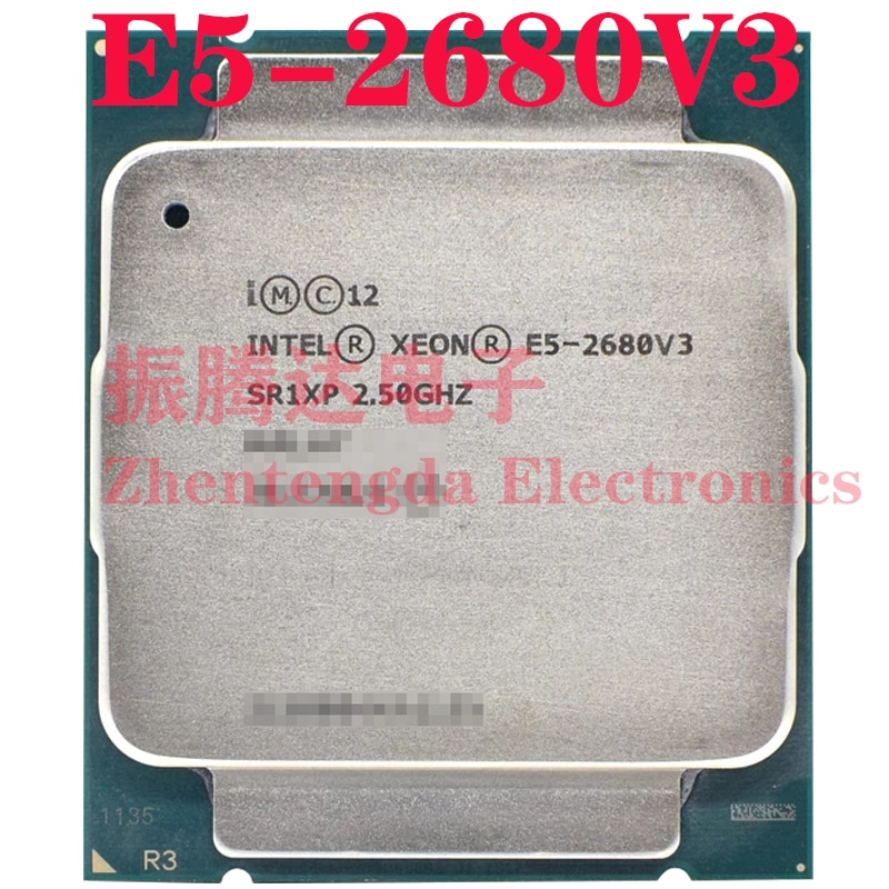 Intel Xeon E5-2680 V3 CPU 2.5GHz L3-30MB 12 Core 24 Threads LGA 2011-v3 E5-2680V3 CPU Processor