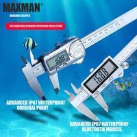 Digital Caliper IP67 Waterproof Ruler 0.01mm Vernier Caliper Bluetooth Transmission Electronic Ruler ABS Origin Measurement