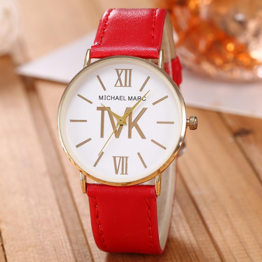 Kobiet Zegarka 2021 New Brand Women Watch Casual Fashion Elegant Generous Quartz PU Leather Strap La